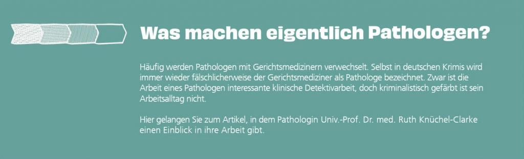 Was machen Pathologen